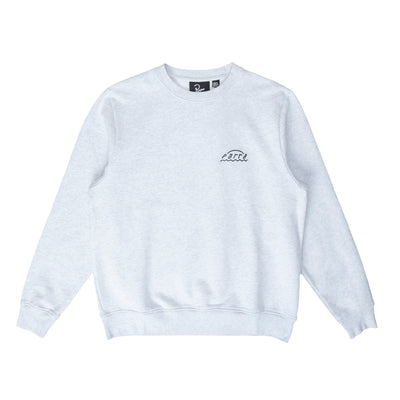 By Parra Arch Logo Crewneck - Grey - Front - Off The Hook Montreal