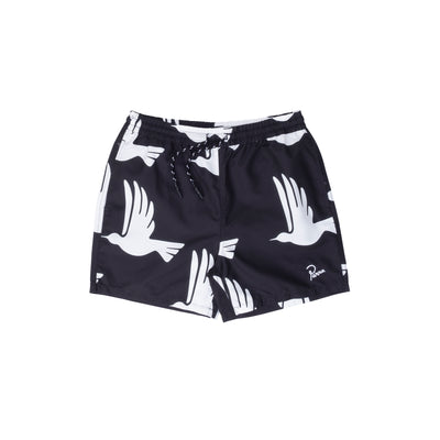 By Parra Static Flight Swim Shorts - Black - Front - Off The Hook Montreal