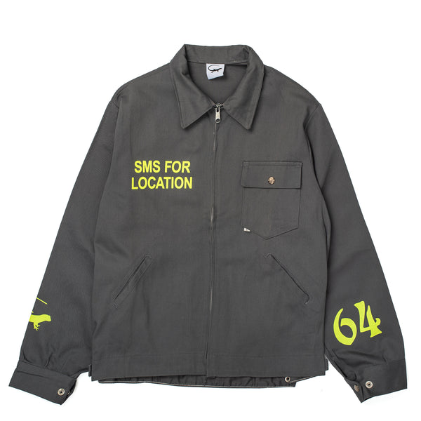 Missed the 90s rave era because you weren't born yet? Well, you can still embrace the coveted subculture by zipping up this green work jacket featuring neon yellow detailing like SMS for location (given that Moonshine entre nous grey off the hook oth streetwear boutique canada montreal