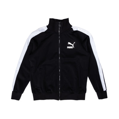 Puma Iconic T7 Track Jacket - Black - Front - Off The Hook Montreal #color_black