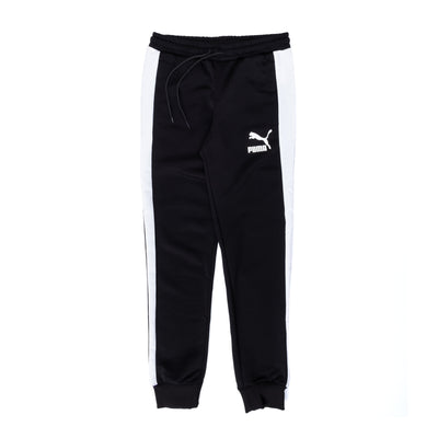 Puma Iconic T7 Track Pants - Black - Front - Off The Hook Montreal #color_black