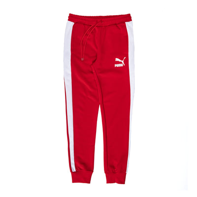 Puma Iconic T7 Track Pants - High Risk Red - Front - Off The Hook Montreal #color_high-risk-red