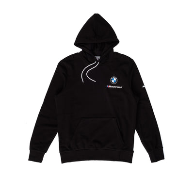 Puma BMW MMS ESS SMALL LOGO HOODIE TR - Black - Front - Off The Hook Montreal