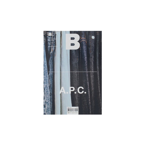This issue on the Parisian brand A.P.C . from B Magazine features: thoughts by the founder, the brand's essential items, the campaigns, a denim guide and more. Product code: NDH.B78APC Now at OTH. off the hook streetwear boutique canada montreal publications