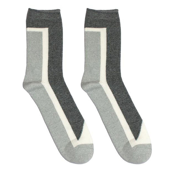 N/A's Seven socks boast custom cotton blended yarns, and are constructed with 105 needle Intarsia knit.  Product code: 5514004 n/a Seven Hi-Ankle Socks Grey off the hook oth streetwear boutique canada montreal