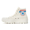 Lugged Varsity Chuck Taylor All Star Hi Top Egret / Vermilion Red / Coast W