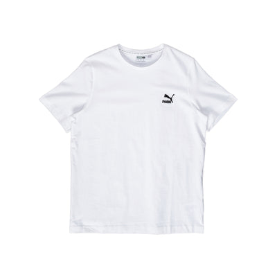 Puma Classic Embroided Tee - White - Front - Off The Hook Montreal #color_white