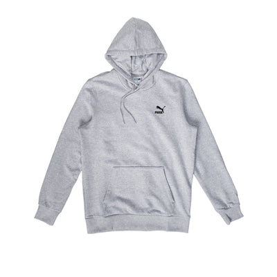 Puma Classics Embroided Hoodie TR - Heather Grey - Front - Off The Hook Montreal #color_heather-grey