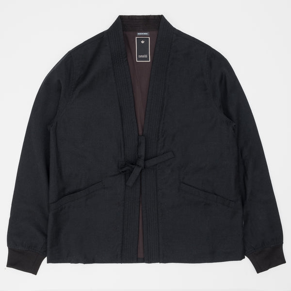 Maharishi Kimono Blazer Australian Virgin Wool - Black - Front - Off The Hook Montreal