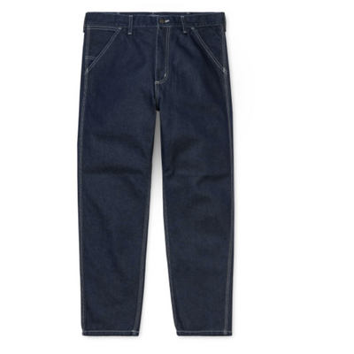 Carhartt WIp Penrod Pant Blue Rinsed is now available at off the hook montreal
