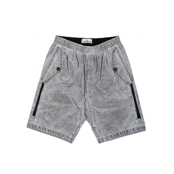 L0299 Plated Reflective with Dust Color Finish Bermuda Shorts Grey