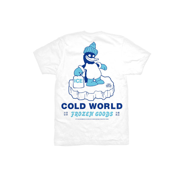 Ice World Tee (White) available at off the hook montreal