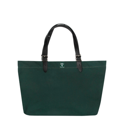 South2West8 Canvas Canal Park Tote Classic - Hunter Green - Front - Off The Hook Montreal