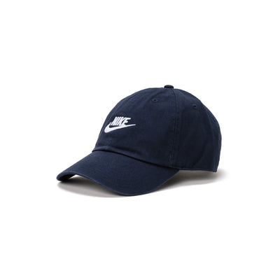 Nike Sportswear Heritage86 Futura Washed Cap - Navy / White - Front - Off The Hook Montreal #color_navy-white