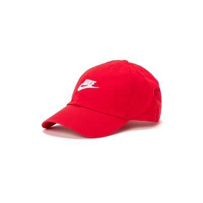 Nike Sportswear Heritage86 Futura Washed Cap - Red / White - Front - Off The Hook Montreal #color_red-white