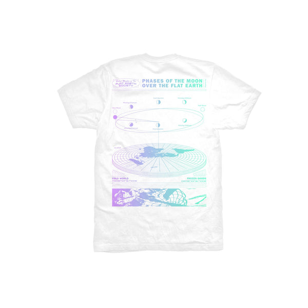 Flat Earth Tee (White) available at off the hook montreal