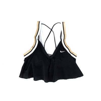 Nike Glam Bra -Black / White / Gold - Front - Off The Hook Montreal