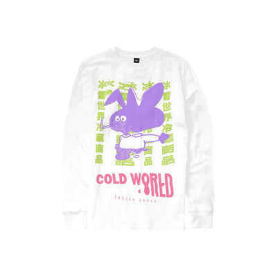Cold Bunny Long Sleeve By @Deansnuts (White) available at off the hook montreal