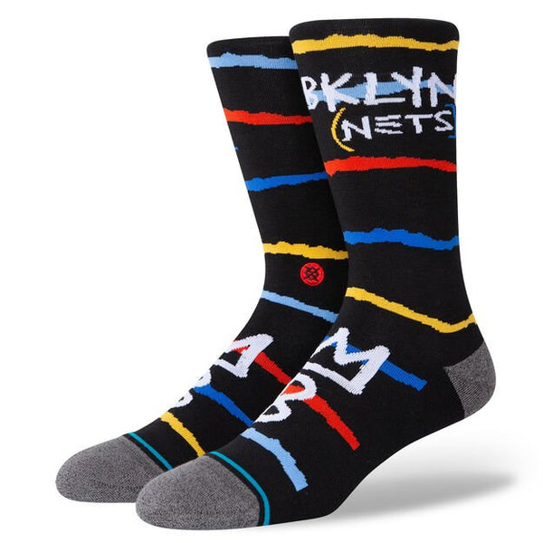Stance A545D20NCE NBA Nets CE Black - 3/4 front - available at off the hook montreal