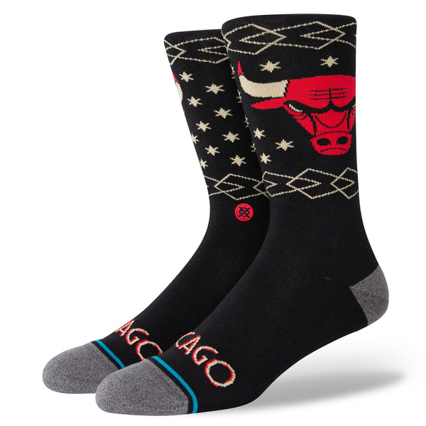 Stance A545D20UCE NBA Bulls CE Black - 3/4 front - available at off the hook montreal