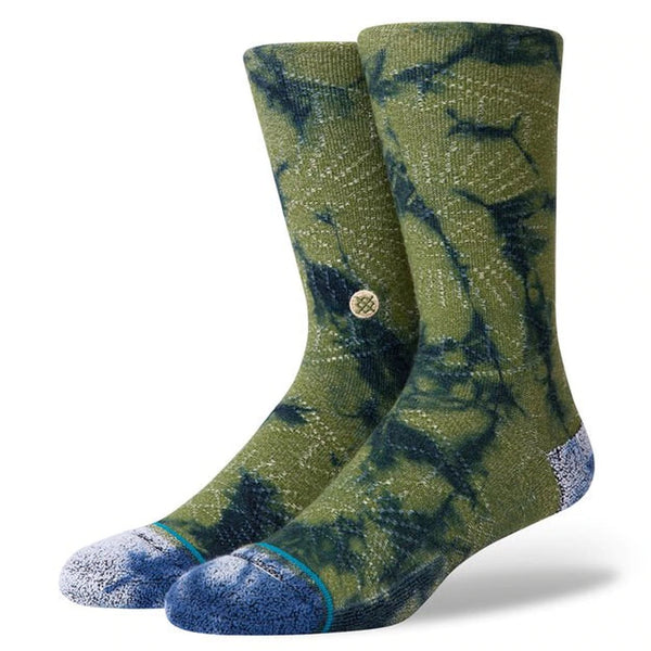 Stance Life Monte Carlo Socks - Army Green - Display - Off The Hook Montreal