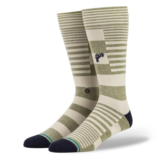 Stance Power Flower Socks - Army Green - Display - Off The Hook Montreal