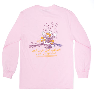 OTH Scrooge McDuck LS T-Shirt - Rose - Back - Off The Hook Montreal