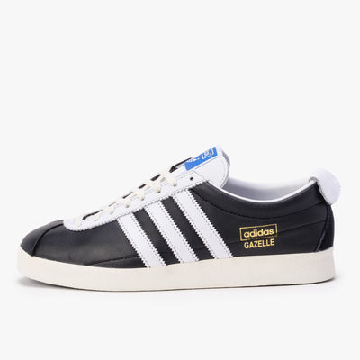 Adidas Gazelle Vintage - Black / White / Gold - Side - Off The Hook Montreal