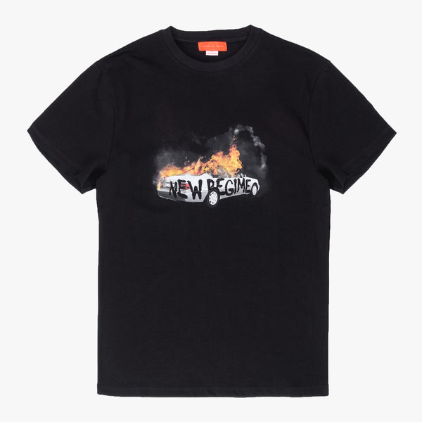 ANR Burning Car T-Shirt - Black - Front - Off The Hook Montreal