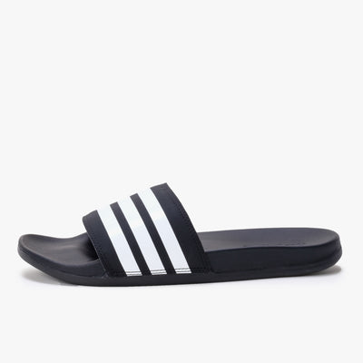Adidas Adilette Comfort - Black / White - Side - Off The Hook Montreal