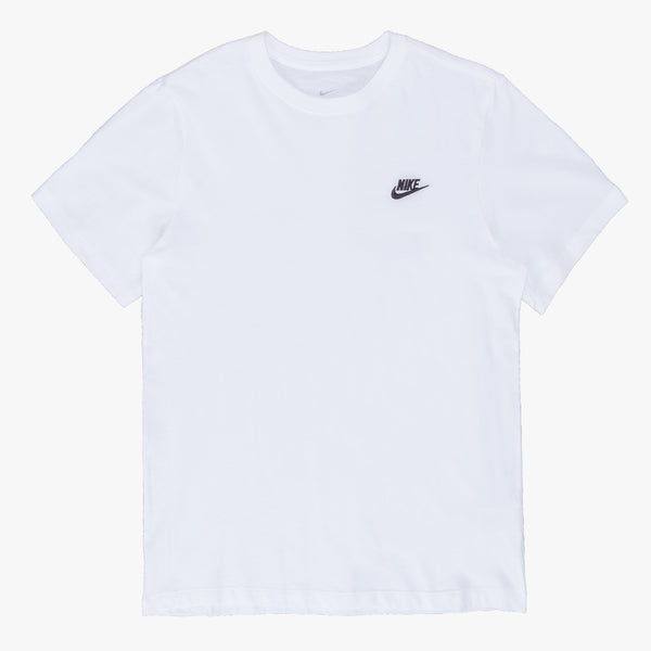 Nike AR4997-101 Nike Sportswear Club T-Shirt White/Black - front - available at off the hook montreal