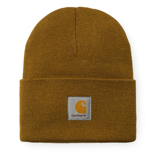 Carhartt WIP Acrylic Watch Hat - Hamilton Brown - Front - Off The Hook Montreal