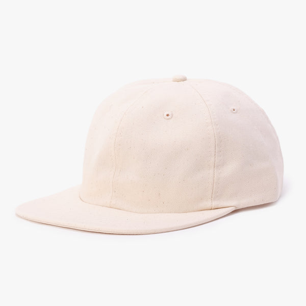 BATHER Six Panel Hat - Natural - 45deg - Off The Hook Montreal