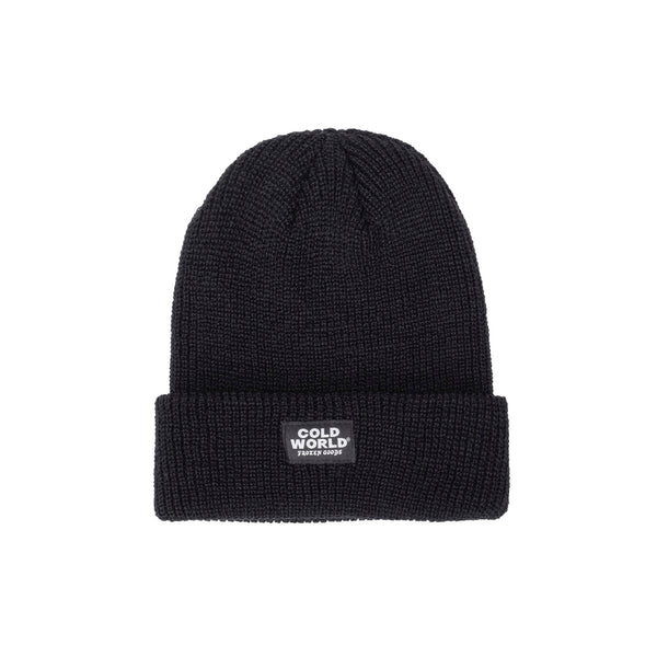 cold world knit beanie CWD6-B01 - black -  front - available at off the hook montreal #color_black