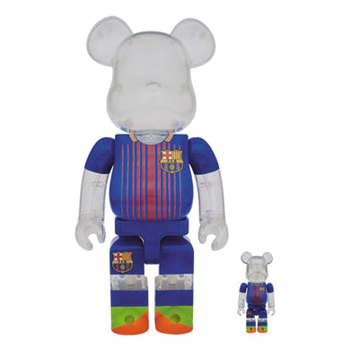 be@rbrick medicom fc barcelona soccer 400% 100% set off the hook oth art toy streetwear japanese montreal canada boutique bearbrick