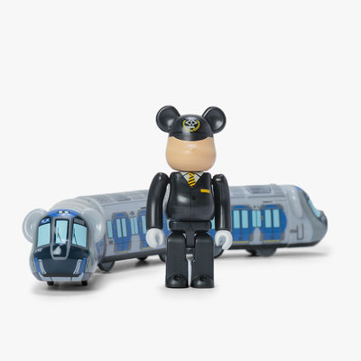 Bearbrick Train X Hanshin Jet Silver 5700 - Front - Off The Hook Montreal