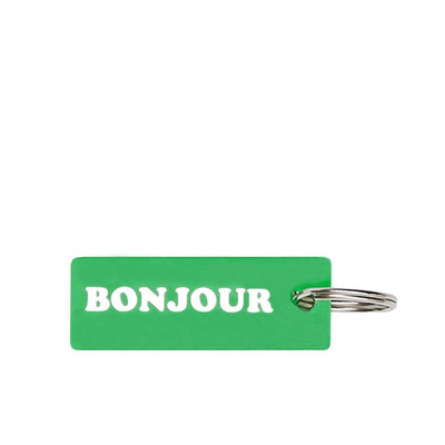 by OTH Bonjour High! Key Chain - Green - Front - Off The Hook Montreal