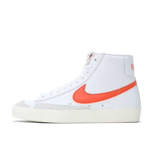 Nike Blazer Mid '77 Vintage - White / Orange - Side - Off The Hook Montreal