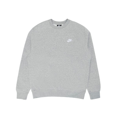 Nike NSW Club Crewneck BB - Grey/White - Front - Off The Hook Montreal