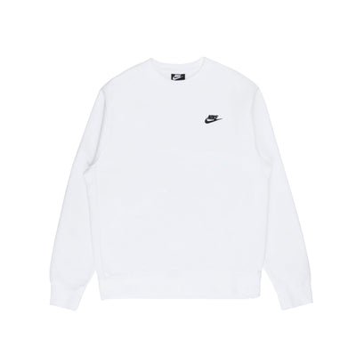 Nike NSW Club Crewneck BB - White/Black - Front - Off The Hook Montreal #color_white-black