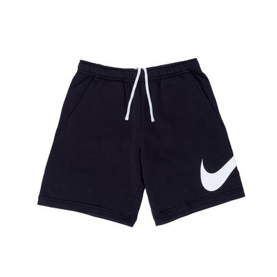Nike Sportswear Club Graphic Shorts - Black / White - Front - Off The Hook Montreal