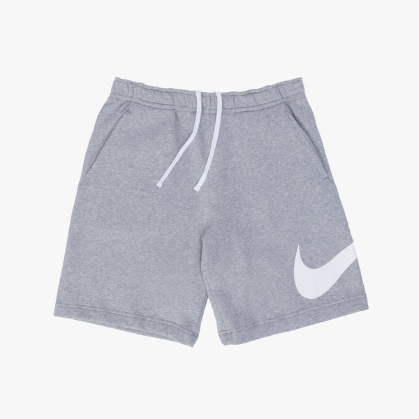 Nike Sportswear Club Graphic Shorts - Heather Grey / White - Front - Off The Hook Montreal