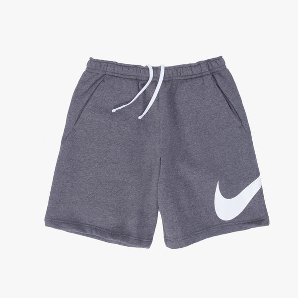 Nike Sportswear Club Graphic Shorts - Charcoal  / White - Front - Off The Hook Montreal