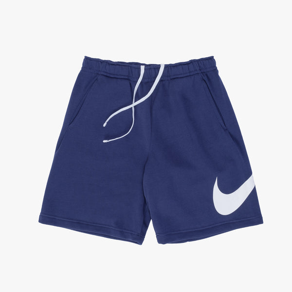 Nike Sportswear Club Graphic Shorts - Navy / White - Front - Off The Hook Montreal
