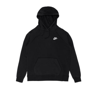 Nike Sportswear Essential Fleece Hoodie - Black / White - Front - Off The Hook Montreal #color_black-white