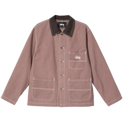 Stussy 115524 Brushed Moleskin Chore Jacket Cognac front available at off the hook montreal