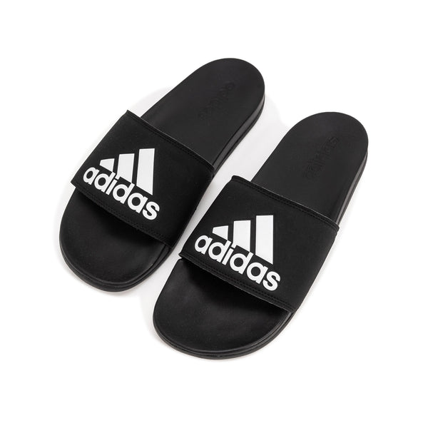 Adidas Adilette - Black / White - 45deg- Off The Hook Montreal