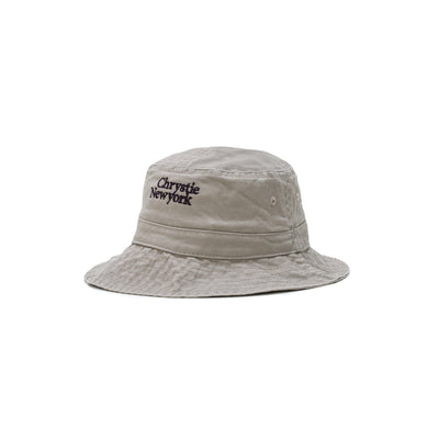 Chrystie Classic Logo Bucket Hat - Khaki - Front - Off The Hook Montreal #color_khaki