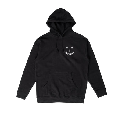 Chrystie Smile Logo Hoodie - Black - Front - Off The Hook Montreal #color_black