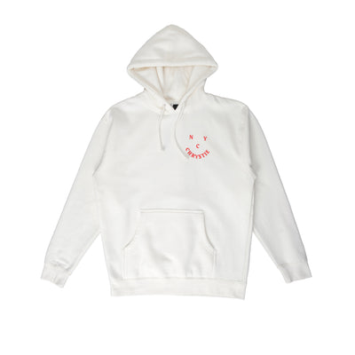 Chrystie Smile Logo Hoodie - Bone - Front - Off The Hook Montreal #color_bone